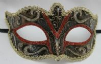 Red and Black Sparkling Mask